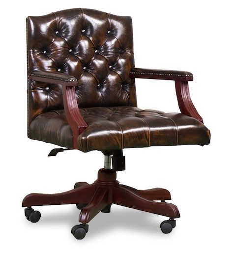Captains Office chairs in washed off brown
