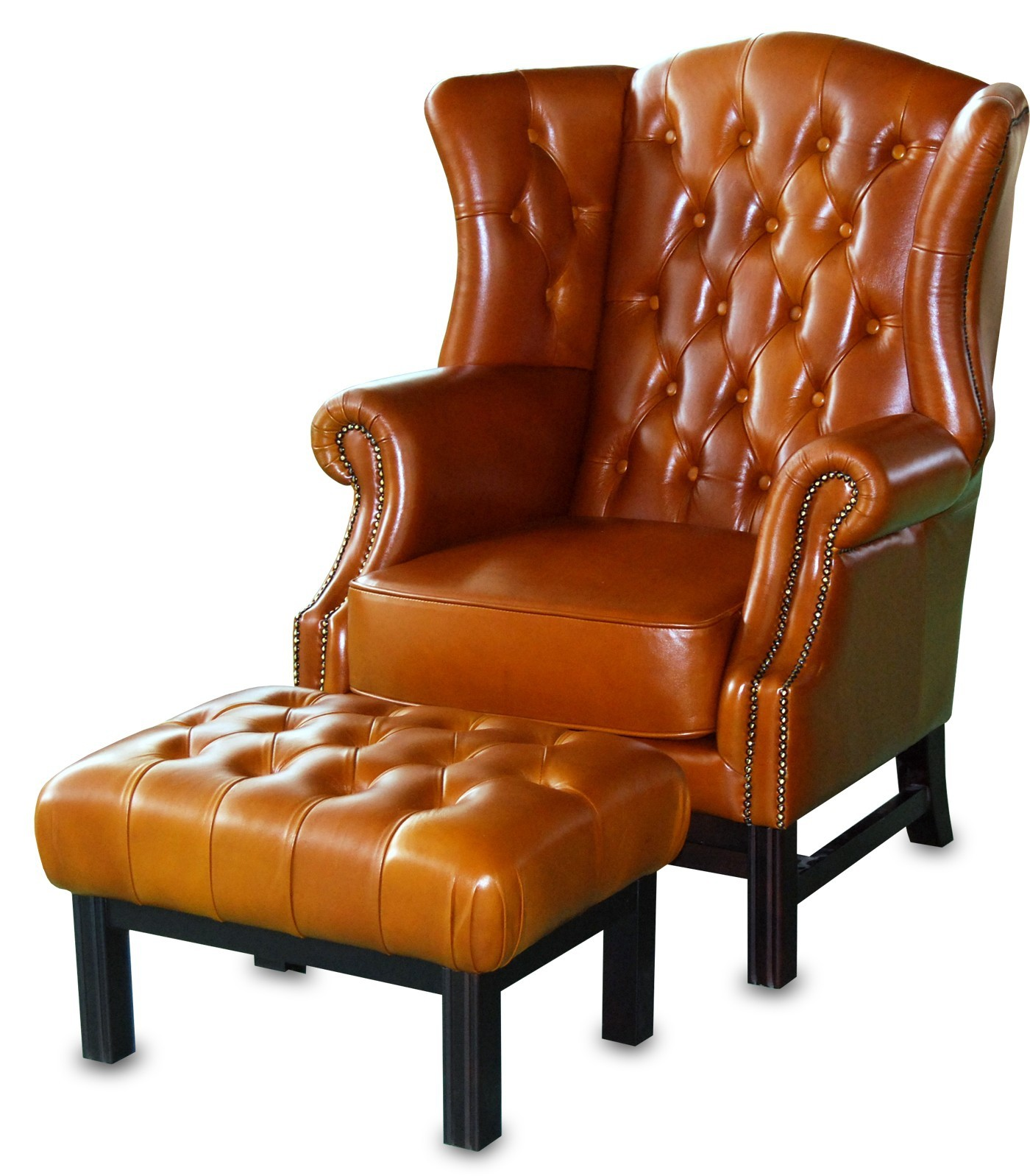 Chesterfield Wing Back Chair-Ascot
