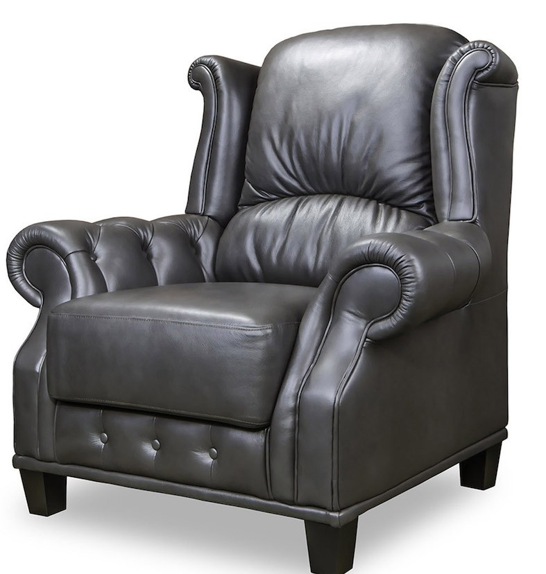 Earl Chair in Black Leather