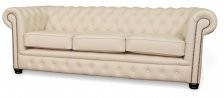 Essex 3 seater in white leather