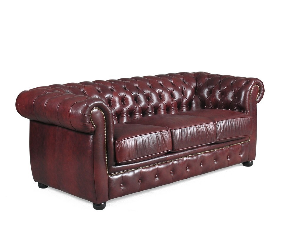 Liverpool Classic Chesterfield Sofa Leather Lounge