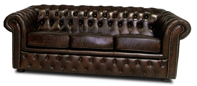 Narborough 3 seater in washed off brown