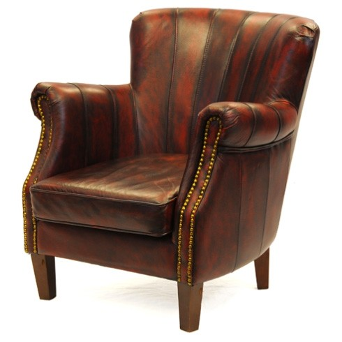 Taylor chesterfield armchair side view