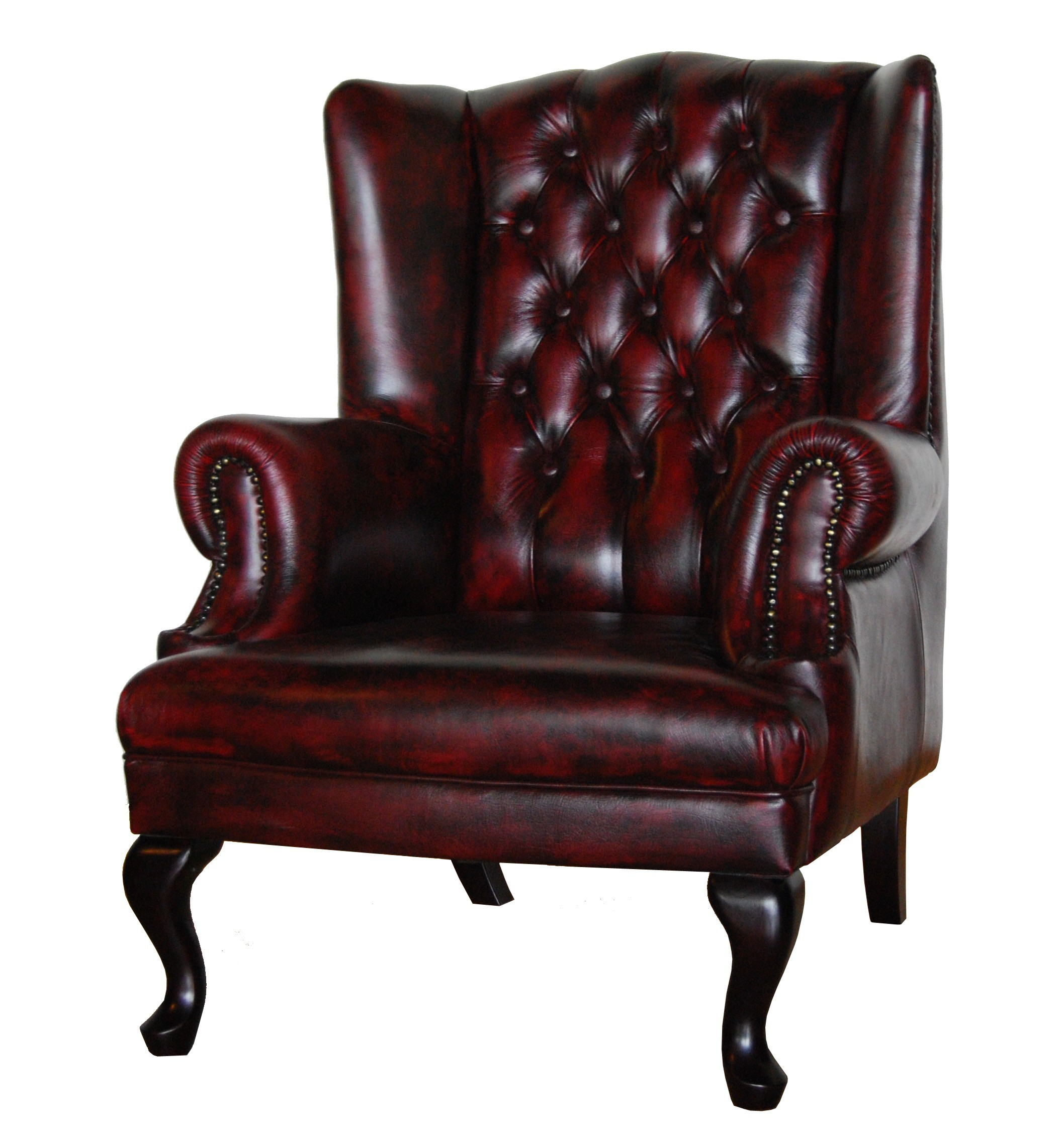 Visitor Leather Wing Back Chair