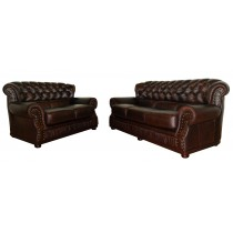 Crimson Classic High Back Chesterfield Sofa
