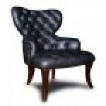 ELVIE MODERN LEATHER WING BACK CHAIR