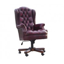 Leather Chesterfield Office Chair