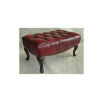 Paris Chesterfield Leather Footstool