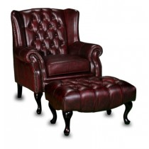 Paris Leather Wing Chair