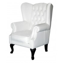 Sherwood White Wing Back Chair