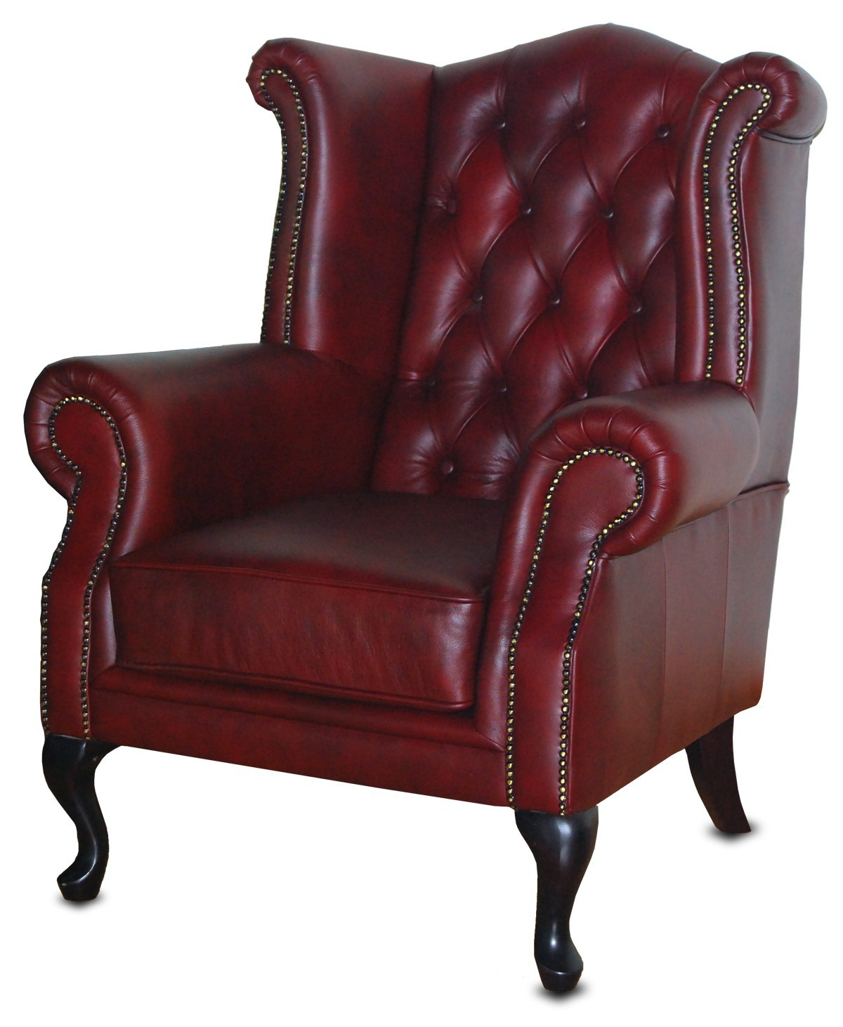 Lancaster Leather Wing Back Chair